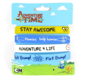 Official Licenced Adventure Time Jake & Finn Rubber Wristbands Jelly Bangles