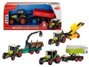 CLAAS FARM WORKER TOY TRACTOR WITH WORKING TRAILER