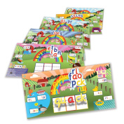 Junior Learning Rainbow Phonics Word Farm Landscapes Vibrant Magnetic Learning Landscape Boards