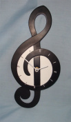 My Music Gifts Treble Clef Shaped Wall Clock