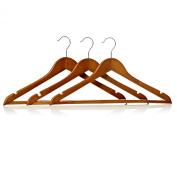 Osborne Mens Pack Of Three Wooden Coat Hangers