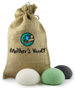 Organic Skin Care Exfoliating Charcoal Konjac Sponge By Mother's Vault - All Natural Beauty Supply Prevents Breakouts While Exfoliating & Toning for a Better Complexion + Charity Donation