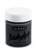 Global Body Art Face Paint - Liquid Black 45ml