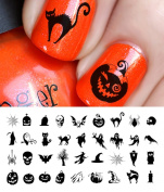 Halloween Nail Decals Assortment #2 - WaterSlide Nail Art Decals - Salon Quality!