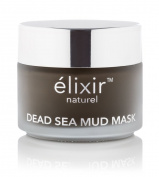 Elixir Naturel Best Pure Organic Dead Sea Mud Mask - 100% Natural Cleanser and Moisturiser for Face, Body & Hair - Removes Blackheads, Pimples & Acne Scars - Reduces Pores & Wrinkles - Anti Ageing Spa Treatment