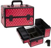 Seya Professional Makeup Case w/ 3 Trays - Hot Pink Diamond