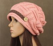 Aokdis Braided Warm Rageared Baggy Winter Beanie Knit Crochet Ski Women Lady Hat Cap