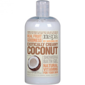 N-Spa Exotically Creamy Coconut Shower & Bath Gel with Natural Vitamins and Real Fruit Goodness