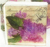 Lilac Big blooms Colourful Fragrant Flowers handmade Postcard theme soap, Pretty as a picture soap