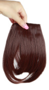 Sexybaby 2 Clips 30G Synthetic Hairpieces Extensions Clip in Front Neat Bangs