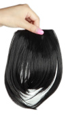 Sexybaby 2 Clips 30G Synthetic Fibre Hair Extensions Clip-in Front Neat Bangs