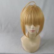 Vocaloid 2 Sabre Honnne Deru Short Light Gold Party Cosplay Costume Wig
