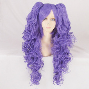 Vocaloid Miku 75CM Long Purple Cosplay Costume Wig + 2 Wavy Ponytails
