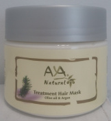 Hair Mask Deep Conditioner Treatment - VEGAN 100% Natural Concentrated Mask for Dry or Damaged Hair & Scalp - Moroccan Argan Oil, Extra Virgin Olive Oil, Coconut & Jojoba Oils Blend - Paraben FREE, Alcohol & Sulphate FREE Long Lasting Conditioning Hair ..