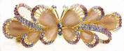 Beautiful Butterfly Design Austrian Rhinestone Crystal Hair Barrette - Purple Colour