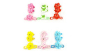 Linda Fashion Butterfly Hair Clip and Scrunchy, 12 Count