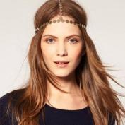 Lvxuan Bohemian Gypsy Boho Crown Headpiece Head Chain Hair Band Dance Fashion Jewellery