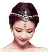 Wiipu Rhinestone Headbands Wedding Hair Jewellery Tiara for Bride