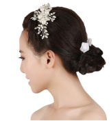 Wiipu Handmade Pearl Comb Bridal Hair Accessories Wedding Jewellery