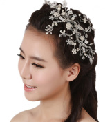 Wiipu Handmade Pearl Crystal Comb Bridal Hair Accessories Wedding Jewellery