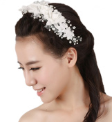 Wiipu Rhinestone Crystal Flower Bridal Women Jewellery Wedding Hair Accessories