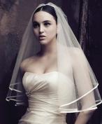 CIMC LLC Double-layer 2 Layer Bridal Wedding Veil