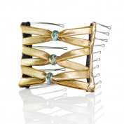 Hairzing Boho Artisan Glass Wide Eyelet- Gold- Medium - The Patented Original