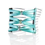 Hairzing Boho Artisan Glass Wide Eyelet-Turquoise- Medium - The Patented Original