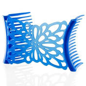 HairZing Flower Comfy Combs-Periwinkle- Medium - the Patented Original