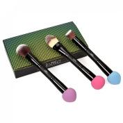 BMC 3pc Womens Dual End Latex Free Blender Sponge Synthetic Hair Makeup Brushes