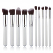 AMarkUp Premium Synthetic Kabuki Makeup Brushes Set 10 Pcs Cosmetics Foundation Blending Eyeliner Powder Brush Makeup Brushes Kit