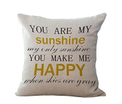 45x45cm XMAS Gift Present Linen Cushion Covers Pillow Cases Seat for Auto Seat