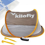 kilofly Flat Top Instant Pop Up Portable Travel Baby Beach Tent + 2 Pegs