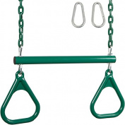 Trapeze Bar with Rings and Coated Chain and SSS Logo Sticker
