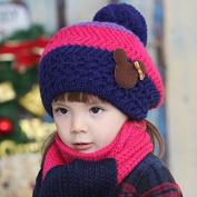 FuzzyGreen Kids Winter Beanie Hat Scarf Set Hats Bundle