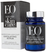 EO Ageless Skin Care Moroccan Lava Clay Exfoliating Scrub with Papaya and Pineapple Enzymes, 45ml