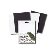 Beadsmith Beading Foundation - For Embroidery Work - Black and White 14cm x 11cm .