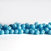 60 pcs 4 mm Czech Fire Polished Faceted Round Glass Bead, Opaque Bright Blue