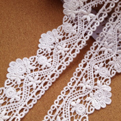 Ivory 5 Yards 5.1cm Wide Grace Venise Lace Trim Fabric Lace Home Decoration Costumes Supplies