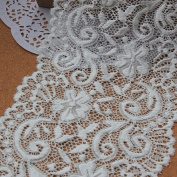 Ivory 5 Yards 15cm Wide Grace Stretch Lace Trim Fabric Lace Home Decoration Costumes Supplies