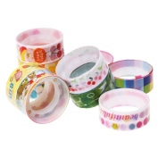 A-szcxtop Cute Mixed Colours Japanese Washi Tape Hobby Decorative Crafting Tape,10 Pack, Random Colours