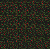 American Crafts Deck The Halls Boughs Of Holly Christmas Scrapbook Paper