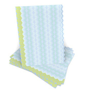 Blue + Green Zig Zag Stationery