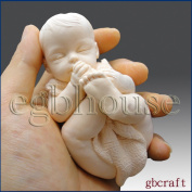 Lifelike Baby Sucking on Its Toes(2 Parts Assembled Mould)- 3d Silicone Soap/clay/candle Mould