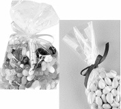 100x Clear Flat Cello/Cellophane Treat Bag 10cm x 20cm (1.5mil) Gift Basket Supplies