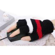 USB Mittens Fingerless Heated Gloves Office Home Winter Hand Warmer - Black
