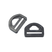 """Bluemoona 100 PCS - 25mm 1"""" Adjuster Triangle With Bar Swivel Clip D Ring Buckle Plastic"""