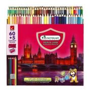 MASTERART Premium Grade coloured Pencils with Sharpner 60 Coloured