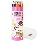 36 Pcs Set Artist Pencil with a Sharpener Drawing Pencils Artist Sketch Assorted Coloured