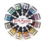 Dr. Ph. Martin's Iridescent Calligraphy Colour Bottles, 30ml, Set of 12